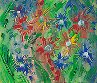 multicolored flowers impression: abstract multicolored image