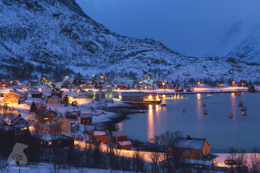 Fishing village, Finnmark, Norway.