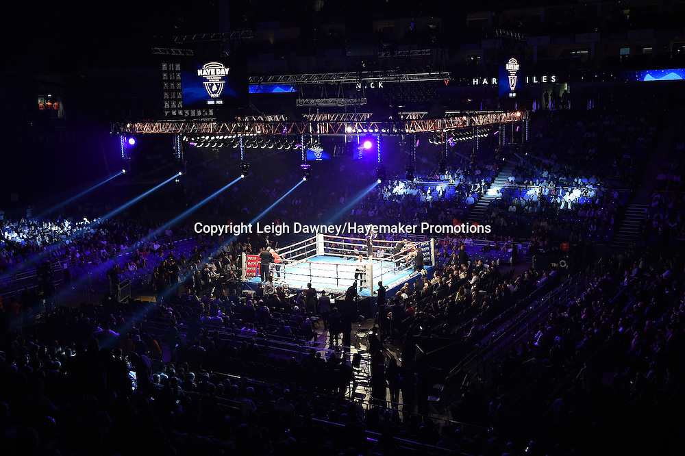 A general view of at the 02 Arena, London ahead of David Haye's fight against Arnold Gjergjaj on the 21st May 2016. Photo credit: Leigh Dawney/Hayemaker Promotions