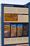 Interpretive sign on the Salt Creek Trail, Death Valley National Park. California