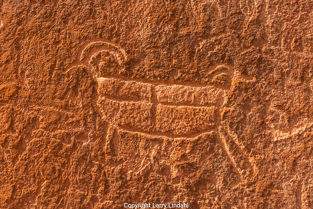 Petroglyph along the Escalante River, near Neon Canyon, Grand Staircase-Escalante National Monument; Utah