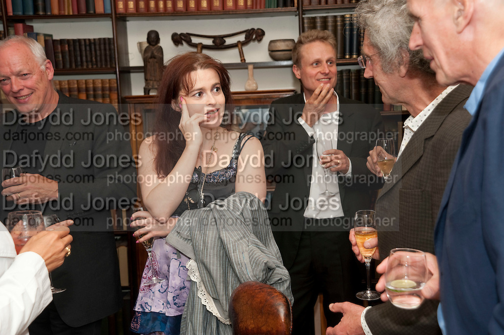 DAVID GILMOUR; HELENA BONHAM CARTER; TOM ASTOR; MICHAEL MOLNAC; JAMES FOX, Freud Museum dinner, Maresfield Gardens. 16 June 2011. <br /> <br />  , -DO NOT ARCHIVE-© Copyright Photograph by Dafydd Jones. 248 Clapham Rd. London SW9 0PZ. Tel 0207 820 0771. www.dafjones.com.