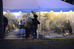 To make place for construction of 57 new rental units Philadelphia Housing Authority (PHA) demolished two of the three high-rises in the Sharswood neighborhood, on the morning of March 19, 2016. <br />