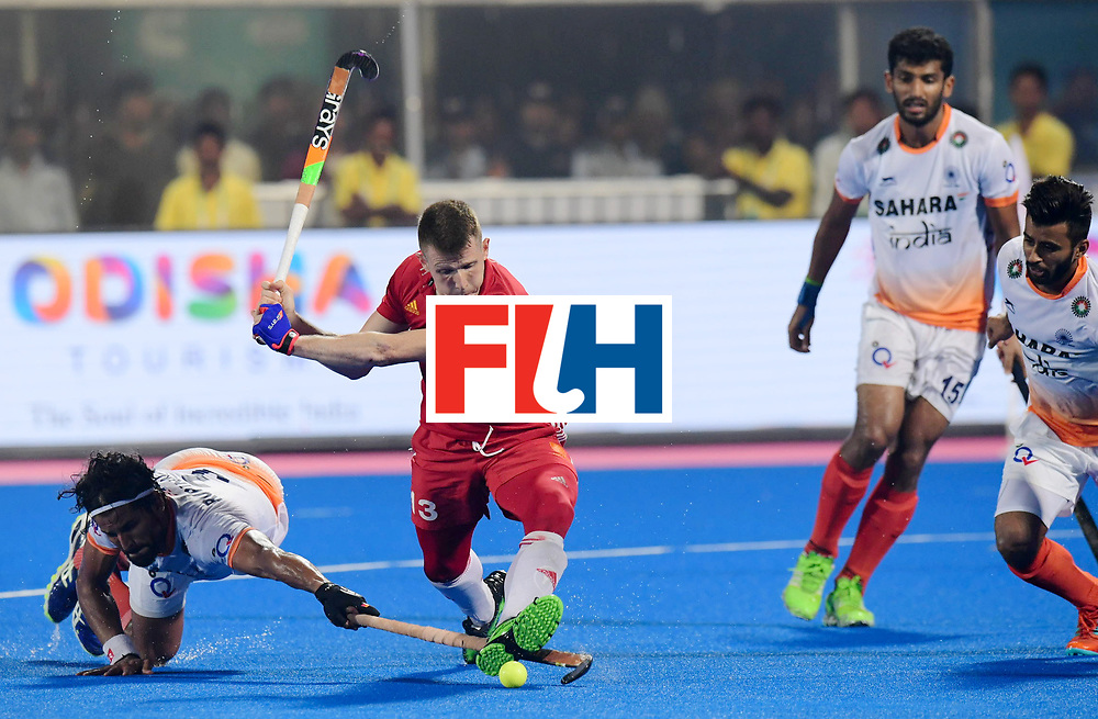 Odisha Men's Hockey World League Final Bhubaneswar 2017<br /> Match id:05<br /> 06 IND v ENG (Pool B)<br /> Foto: Sam Ward (Eng) scoort 2-3.<br /> WORLDSPORTPICS COPYRIGHT FRANK UIJLENBROEK