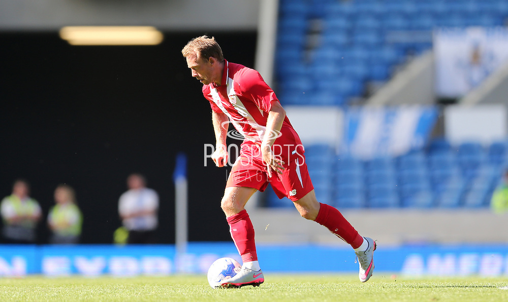 Michael Krohn-Dehli of Sevilla during the Pre-Season Friendly match between Brighton and Hove Albion and Sevilla at the American Express Community Stadium, Brighton and Hove, England on 2 August 2015.