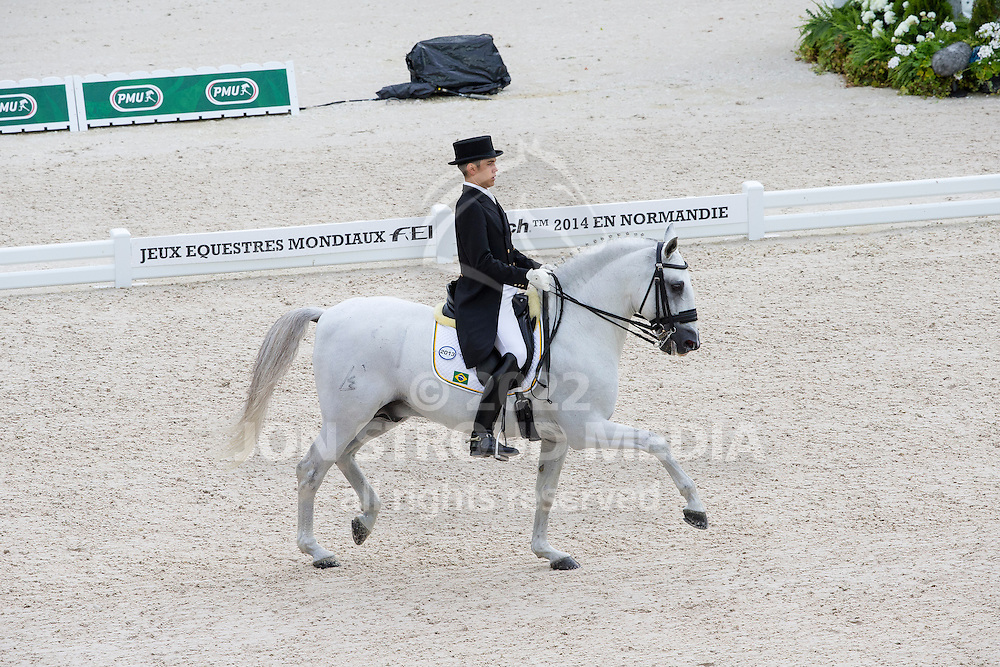 Joao Victor Oliva, (BRA), Signo Dos Pinhais - Grand Prix Team Competition Dressage - Alltech FEI World Equestrian Games&trade; 2014 - Normandy, France.<br /> &copy; Hippo Foto Team - Leanjo de Koster<br /> 25/06/14