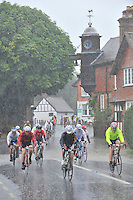 The Prudential RideLondon-Surrey 100<br /> At Abinger Hammer<br /> The Prudential RideLondon, the worlds greatest festival of cycling, which will involve<br /> 70,000 + cyclists from Olympic champions to a free family fun ride - riding in five events<br /> over closed roads in London and Surrey over the weekend of 8th and 19th August 2014<br /> Picture David Ashdown for Prudential Ride London