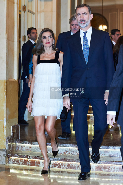 King Felipe VI of Spain, Queen Letizia of Spain attended the 'Francisco Cerecedo' journalism awards to Florencio Dominguez at the Ritz Hotel on November 22, 2017 in Madrid