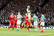 Celtic's keeper Craig Gordon (1) gathers the ball during the Betfred Scottish Cup  Final match between Aberdeen and Celtic at Hampden Park, Glasgow, United Kingdom on 27 November 2016. Photo by Craig Galloway.