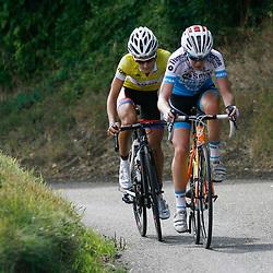 Boels Rental Ladiestour 2013 Stage 6 Bunde - Berg en Terblijt Anna van der Breggen en Lizzie Armitstead