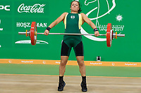 Ashgabat 2017 - 5th Asian Indoor & MartialArts Games 24-09-2017. Weightlifting womens 90kg - Sofia Zudova (AUS) competes in snatch