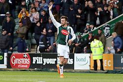 Graham Carey of Plymouth Argyle celebrates after scoring his winning goal - Mandatory by-line: Joe Dent/JMP - 07/04/2018 - FOOTBALL - Home Park - Plymouth, England - Plymouth Argyle v Peterborough United - Sky Bet League One
