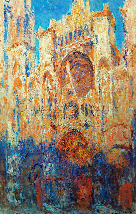 Claude Monet  (1840 – 1926) French impressionist  artist, . Rouen Cathedral Façade at Sunset