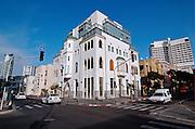 The renovated building at Allenby and Hayarkon junction, Tel Aviv, Israel