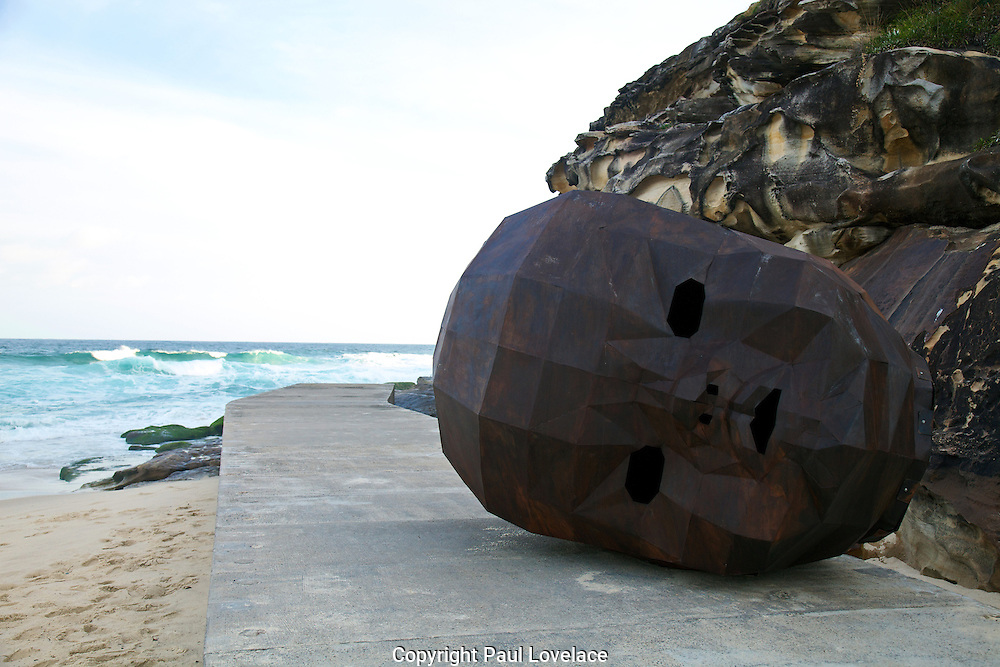 Sculpture By The Sea, Bondi, Sydney..The world's largest annual free-to-the-public outdoor sculpture exhibition, Sculpture by the Sea, Bondi. 23.10.12.Sandy Bliim's sculpture Clytie