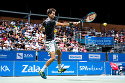 Aljaz Bedene of Slovenia during final match during Day 10 of ATP Challenger Zavarovalnica Sava Slovenia Open 2019, on August 18, 2019 in Sports centre, Portoroz/Portorose, Slovenia. Photo by Matic Klansek Velej / Sportida