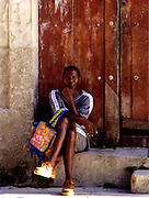 2000 August- Republic of  Cuba-' Sitting in the Doorway ' Mantanza, Cuba