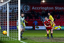 Alex Rodman of Bristol Rovers watches as his header goes wide of the goal - Mandatory by-line: Robbie Stephenson/JMP - 12/01/2019 - FOOTBALL - Wham Stadium - Accrington, England - Accrington Stanley v Bristol Rovers - Sky Bet League One
