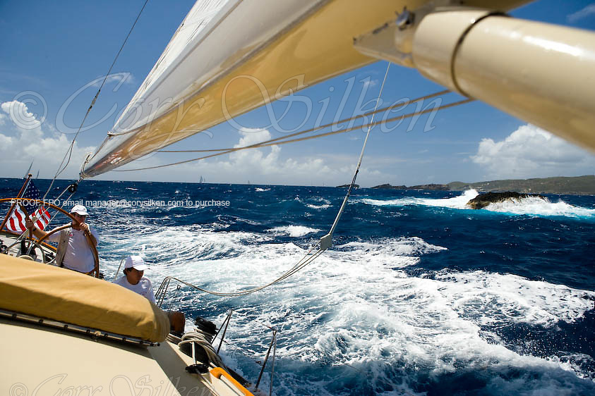 Onboard W Class Wild Horses, racing at the St. Barth Bucket