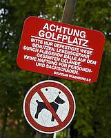 DILLENBURG (Duitsland) - Honden verboden. Golf Club Dillenburg in Westerwald. COPYRIGHT KOEN SUYK