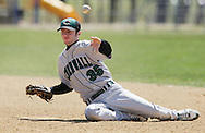 Cornwall's first baseman Kenny Kirshner throws to first base after fielding a ground ball during a game against Pine Bush on April 13, 2009.