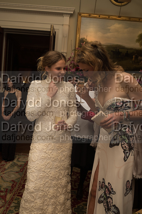 THEODORA HARMSWORTH; LUCY JACKSON Charlton Hunt Ball at Goodwood House.  6 February 2016