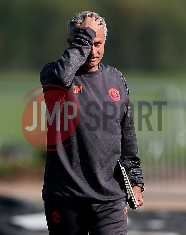 Manchester United manager Jose Mourinho gestures - Mandatory by-line: Matt McNulty/JMP - 14/09/2016 - FOOTBALL - Manchester United - Training session ahead of Europa League Group A match against Feyenoord