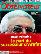Cover Photo by Heidi Levine/ Sipa Press  of Le nouvel Observateur showing  new Palestinian President Mahmoud Abbas  . (Photo by Heidi Levine/Sipa Press).