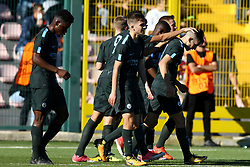 November 1, 2017 - Naples, Italy - Manchester players celebration during the UEFA Youth League Group F match between SSC Napoli and Manchester City on November 1, 2017 in Naples, Italy. (Credit Image: © Matteo Ciambelli/NurPhoto via ZUMA Press)