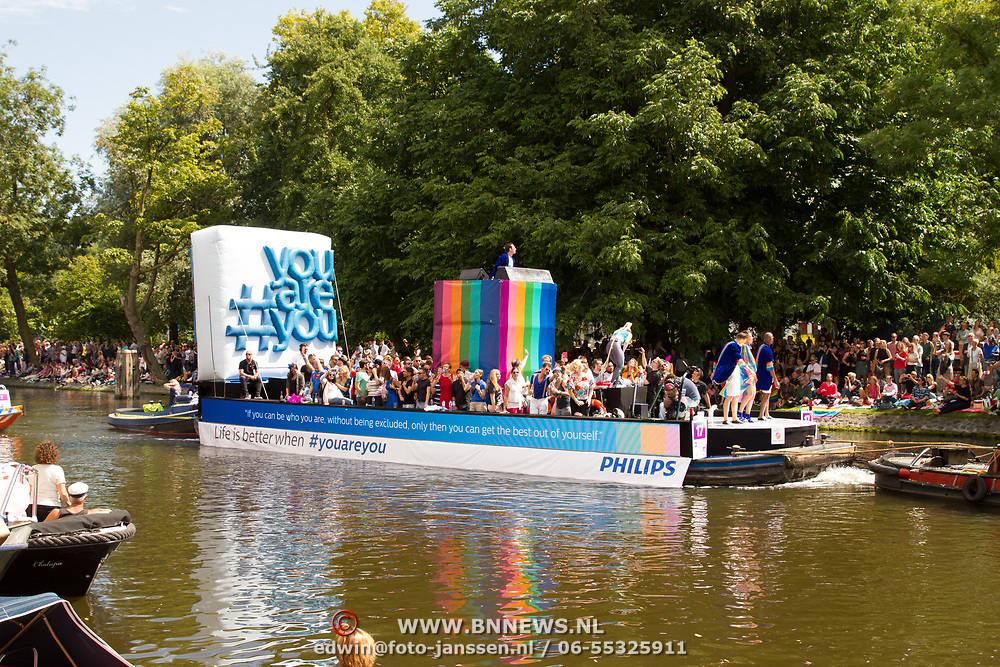 NLD/Amsterdam//20170805 - Gay Pride 2017, Boot Philips