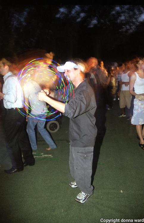 DJ Paul Van Dijk performs at Central Park SummerStage on August 28, 2003.