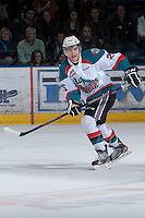 KELOWNA, CANADA - JANUARY 24: Colton Heffley #25 of the Kelowna Rockets skates on the ice against the  Seattle Thunderbirds at the Kelowna Rockets on January 24, 2013 at Prospera Place in Kelowna, British Columbia, Canada (Photo by Marissa Baecker/Shoot the Breeze) *** Local Caption ***