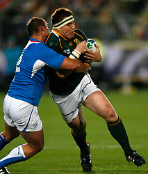 South Africa's John Smit (R) in action...Rugby Union World Cup 2011 Pool D..South Africa v Namibia..22nd September, 2011.(Credit Image: © Sport Image/Sportimage/Cal Sport Media/ZUMAPRESS.com)