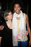 Jill Newman and Ayo at Ayo produced by Jill Newman Productions held at Hiro Ballroom on Monday, April 14, 2008..Ayo has become a big name in Europe on the strength of her debut album, ?Joyful,? and its hit single, ?Down on My Knees.? Her sound combines a host of different eclectic musical styles that originate from her varied background as a German-born daughter of a Nigerian father and a Romanian gypsy mother.