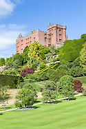 Powis Castle from the Lower Garden, which is planted with fruit trees and vines