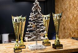 Trophies during Slovenian National Tennis Championship 2019, on December 21, 2019 in Medvode, Slovenia. Photo by Vid Ponikvar/ Sportida
