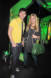 SEAN SMITH and sister SARAH SMITH - TV's X-Factor contestants Same Difference at the premier of Ben Ten Alien Force at the Old Billingsgate Market, City of London on 15th February 2009.