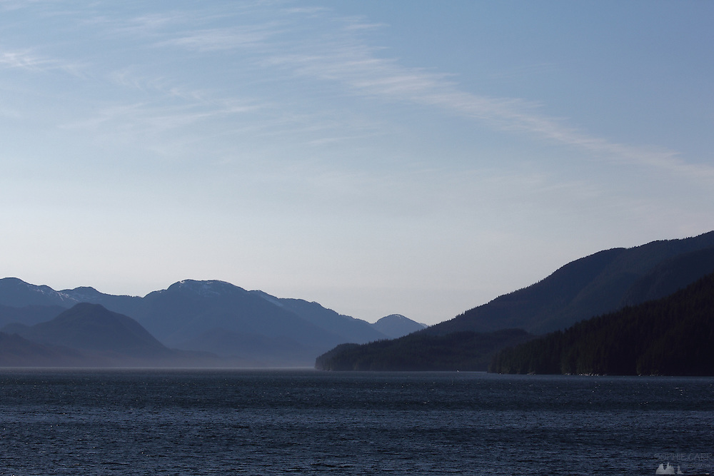 The light begins to fade as we head towards Prince Rupert on Canada's Inside Passage