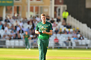 Jake Ball during the Natwest T20 Blast North Group match between Nottinghamshire County Cricket Club and Worcestershire County Cricket Club at Trent Bridge, West Bridgford, United Kingdom on 26 July 2017. Photo by Simon Trafford.
