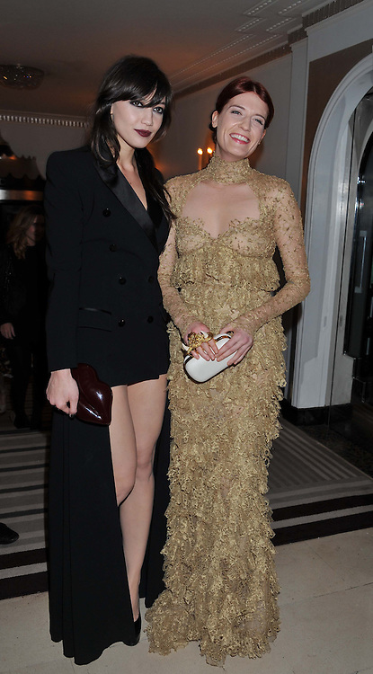 Left to right, DAISY LOWE and FLORENCE WELCH at the Harper's Bazaar Women of the Year Awards 2011 held at Claridge's, Brook Street, London on 7th November 2011.
