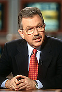 Weapons inspector David Kay on NBC's show Meet the Press March 1, 1998 in Washington, DC.