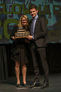 KELOWNA, CANADA - MARCH 19:  Rookie of the Year presented to Nolan Foote by a Capri Insurance Respresentative at the Kelowna Rockets Awards Ceremony on March 19, 2017 at the Kelowna Community Theater in Kelowna, British Columbia, Canada.  (Photo By Cindy Rogers/Nyasa Photography,  *** Local Caption ***