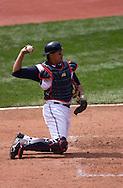 Image &copy; 2005 David Richard<br /><br />Cleveland Indians catcher Victor Martinez