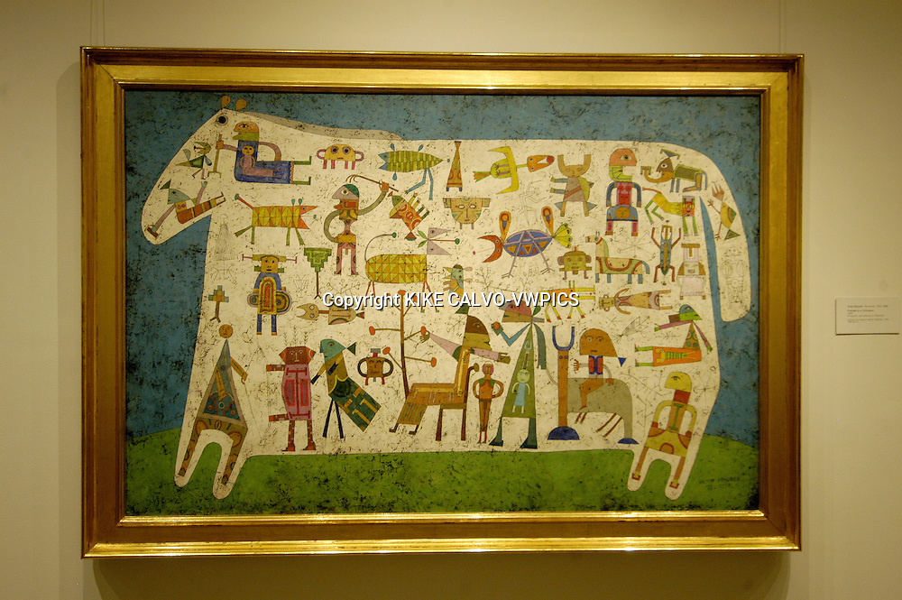 Prelude to civilization, by Romanian Brauner.© KIKE CALVO.( culture, landmark, education, international, collection, piece, sculpture, painting, art, artistic, historic, historical, history, restauration, research B1276