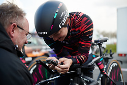 Rotem Gafinovitz (ISR) practices her position at Healthy Ageing Tour 2019 - Stage 4A, a 14.4km individual time trial starting and finishing in Winsum, Netherlands on April 13, 2019. Photo by Sean Robinson/velofocus.com