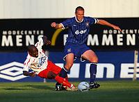 Photo: Maarten Straetemans.<br /> Royal Antwerp v Ipswich Town. Pre Season Friendly. 31/07/2007.<br /> Jason De Vos (right) of Ipswich with Kenmogne