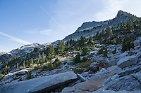 View of the north face of Mt Pilchuk on the summit trail in the western Washington Cascade mountain range, USA.