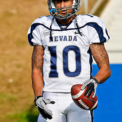 December 4, 2010; Ruston, LA, USA;  Nevada Wolf Pack quarterback Colin Kaepernick (10) against the Louisiana Tech Bulldogs during a game at Joe Aillet Stadium.  Mandatory Credit: Derick E. Hingle