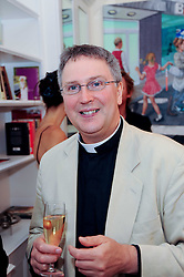 FR.MICHAEL SEED at a reception to celebrate the repairs on the Queen Elizabeth Gate in Hyde Park after it's successful repair following damaged sustained in a traffic accident in early 2010.  The party was held at 35 Sloane Gardens, London on 7th June 2010.