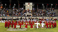 Seniors circle the center of the football field June 1, 2012 at the conclusion of their graduation ceremony in Premont.